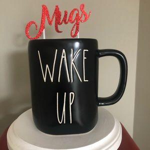 Rae Dunn black wake up mug